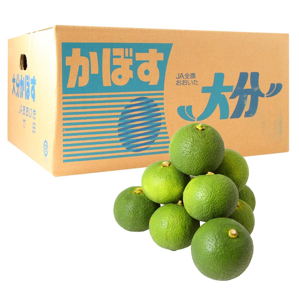 大分竹田産 かぼす青果1箱 4Kg(秀品)【受注発注】【貯蔵カボス】【秀品】