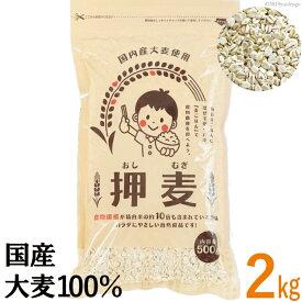 【送料無料】 押し麦 2kg 500g×4袋 国産 押麦 麦ごはんで食物繊維を食べよう 自然食品
