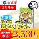 【無洗米】(28年産)熊本県産森のくまさん 5kg(森のくまさん)(米)(お米)(おにぎらず)(送料無料)