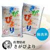 (一等米限定)【無洗米】(29年産新米)(佐賀県産)さがびより5kg×2袋【10kg】(米)(お米)(送料無料)
