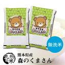 (送料無料) 【無洗米】(令和元年産) 熊本県産 森のくまさん5kg×2 【10kg】