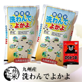 (送料無料)(30年産入り)ふりかけセット 【無洗米】洗わんでよかよ 5kg×2袋 【10kg】(ショップ・オブ・ザ・イヤー2018ジャンル賞受賞)