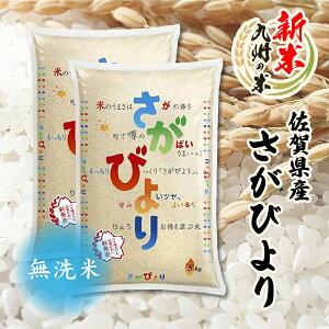 送料無料 数量限定一等米 無洗米 令和3年産新米 1等米 佐賀県産さがびより10kg(5kg×2袋) 全国食味ランキング 特A 10年連続受賞