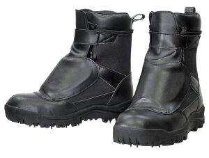 荘快堂甲ガード付スパイクシューズ RV-202G 黒 24.5-30cm 編上式半長靴 鋼製先芯 森林作業 斜面作業