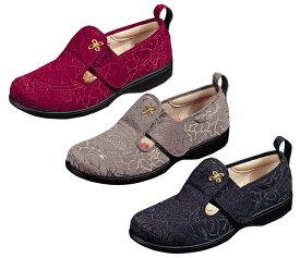介護靴 パステル503 bk 11412076 br 7 w 4 リハビリシューズ22-25cm(ハーフサイズ)ムーンスター