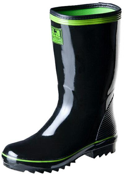 ジョーブーツエコ JB-201 黒 紳士長靴 先芯なし 弘進ゴム製 22.5-30cm