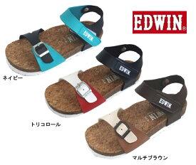 (EDWIN)エドウイン EW9834 チャイルドサンダル18-21cm(ダイマツ)フットベットサンダル