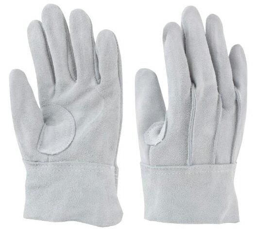 東和コーポレーション 革手袋 牛床革 108-A 外縫い 454 フリー グレー 12双組 作業用革手袋