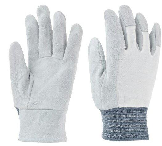 東和コーポレーション 革手袋 牛床革 105-A 甲メリヤス 455 フリー グレー 12双組 作業用革手袋