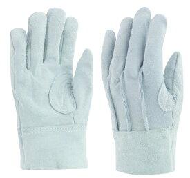 東和コーポレーション 革手袋 No464 牛床革手袋 背縫い(綿メリヤス裏付) フリー グレー 12双組 作業用革手袋
