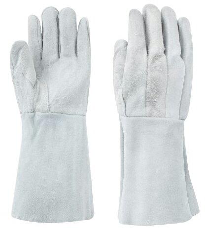 東和コーポレーション 溶接用 床革5本指 W-335 内縫い 460フリー グレー 12双組 溶接用革手袋