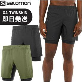 【ネコポス送料無料】SALOMON サロモン ランニング ショートパンツ ショーツ XA TWINSKIN XA ツインスキン トレイルランニング トレラン メンズ LC1494800 LC1494900