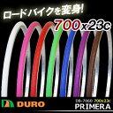 5,400円以上で送料無料 DURO 自転車タイヤ DB-7060 PRIMERA 700x23C 1本 ロードタイヤ タイヤのみ 700C 自転車 カラータイ...