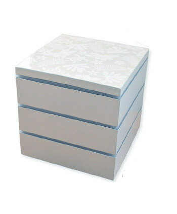 【送料無料】重箱 3段 ハワイアン柄 シール蓋3枚&小鉢4個付