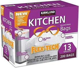カークランド ひも付きゴミ袋 キッチンバッグ 200枚