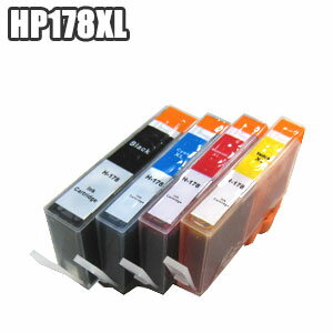 HP178XL 【残量表示 ICチップ付き セット】 互換インク 4MP 4色セット 大容量 hp178 BK C M Y プリンターインク Officejet 4620 Photosmart 6520 6521 B109A C5380 C6380 D5460 CN684HJ CB324HJ CB325HJ HP178XL 【 HP178XL 4MP 5セット以上であす楽対応】株式会社来夢製 ★