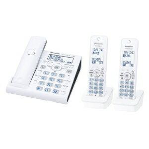 パナソニック【Panasonic】コードレス電話機(子機2台付) VE-GDW54DW-W★【VEGDW54DWW】