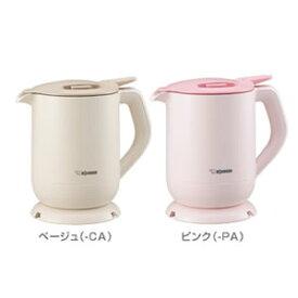 象印【ZOJIRUSHI】0.8L 電気ケトル 転倒湯もれ防止構造 CK-CA08-CA(ベージュ)★【CK-CA08】
