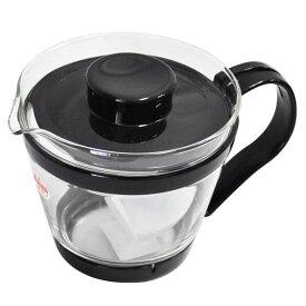 岩城ハウスウエア耐熱ガラス製 レンジのポット 茶器 400ml ブラックHKT863-BK【TC】【取寄せ品】