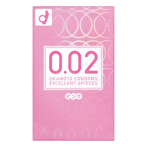 【OKAMOTO CONDOMS 0.02 EX】 オカモト コンドームズ 0.02 EX ピンク 6個入【P】【D】【取寄せ品】
