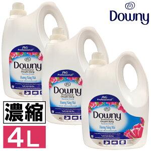 柔軟剤 ダウニー サンライズフレッシュ 3本セット送料無料 ダウニー アジアンダウニー Downy 4L サンライズフレッシュ 4000ml 約160回分ボトル 濃縮タイプ 匂い 青