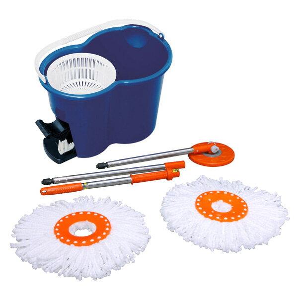 回転モップ ブルー KMO-450送料無料 クリーナー 清掃 雑巾がけ 床 回転モップ ペダルを踏むだけで360°回転 バケツ 掃除 雑巾 床掃除 フローリング 畳 水拭き 乾拭き ペット 室内 アイリスオーヤマ [cpir]