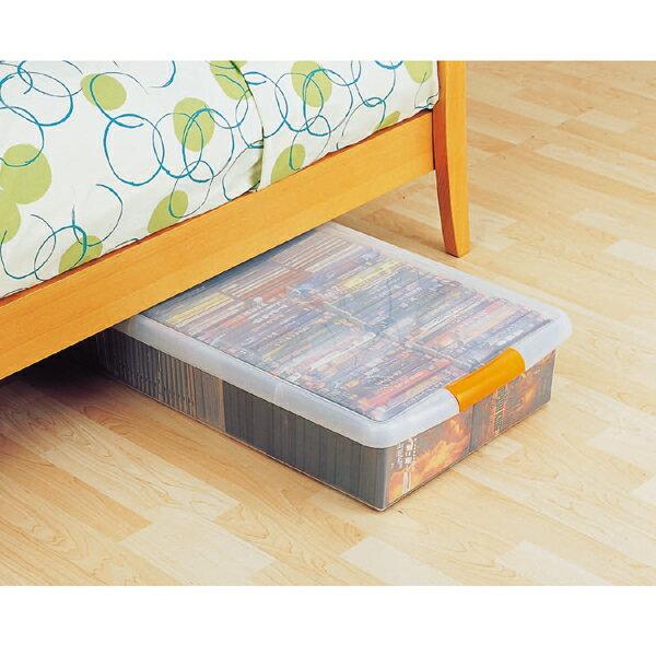 便利薄型ボックス UG-725 ベッド下収納 クリア/オレンジアイリスオーヤマ(収納BOX・収納ボックス・収納用品・収納ケース プラスチック・衣装衣類ケース・押入れ収納)