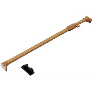 突っ張り棒 つっぱり 木調強力伸縮棒 H-MNPJ-120 ダークブラウン (幅75〜120cm) アイリスオーヤマ ハンガーラック タオル干し バスタオル つっぱり棒 強力 突っ張り棒 伸縮棒 突っ張り パーテーシ