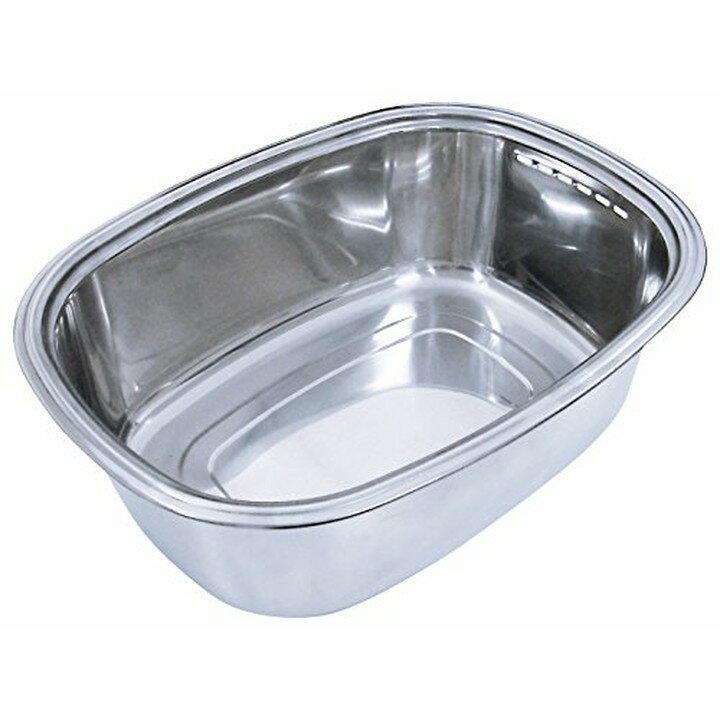 脚付き ステン洗い桶(袋入れ) A-75397おけ 洗い桶 脚付き 四角 ステンレス キッチン 水回り つけ置き アーネスト 【D】【B】