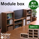 【ポイント5倍】モジュールBOX3個セット ブラウンオーク・白松目 アイリスオーヤマ