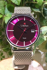 Libenham公式 Strahl LH90051-14 Glow in the morning sky 【朝焼けの空】[リベンハムシュトラールシリーズ/ソーラー/腕時計/ピンク]