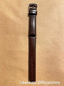 Libenham公式 Libenham Leather Strap-03(Dark Brown/20mm)[リベンハム/ラントシャフト/別売り/ストラップ/ベルト/レザー/ダークブラウン/茶色/スモール/ミディアム/SMALL/MEDIUM]