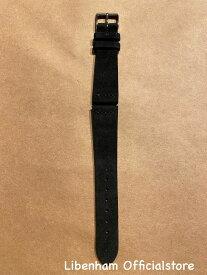 Libenham公式 Libenham Leather Strap05(Black/20mm)[リベンハム/ラントシャフト/別売りストラップ/ベルト/スエード/ブラック/黒/スモール/ミディアム/SMALL/MEDIUM]