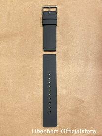 Libenham公式 Libenham ラージ用ラバーストラップ(Black/22mm) [リベンハム/別売り/ストラップ/ベルト/ラバー/黒/ブラック/ラージ/Large/バウム/Baum]