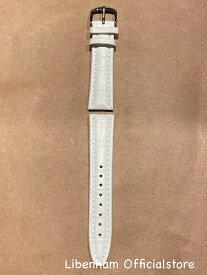 Libenham公式 Libenham Leather Strap-01(White/20mm) [リベンハム/別売り/ストラップ/ベルト/レザー/ホワイト/白/スモール/ミディアム/SMALL/MEDIUM]