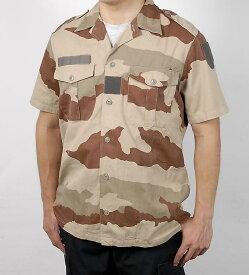 フランス、デザートカモ、半袖シャツ(USED)F14DU-