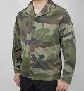 スモール&ビッグ特価、フランス軍F2.カモフィールドジャケット(USED)F21CUーSB=