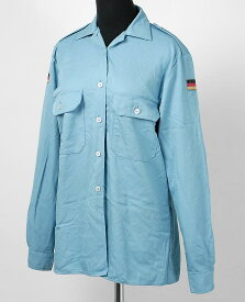 ドイツ、レディース、ブルー、アラミド、フィールドシャツ(USED)G15AU−LDY