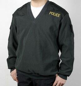 イギリス、ポリス、Vネック、刺繍付、パトロールジャケット(新品)B29NP