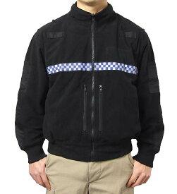 イギリス、ポリス、ブラック、フリースジャケット(新品)B48N