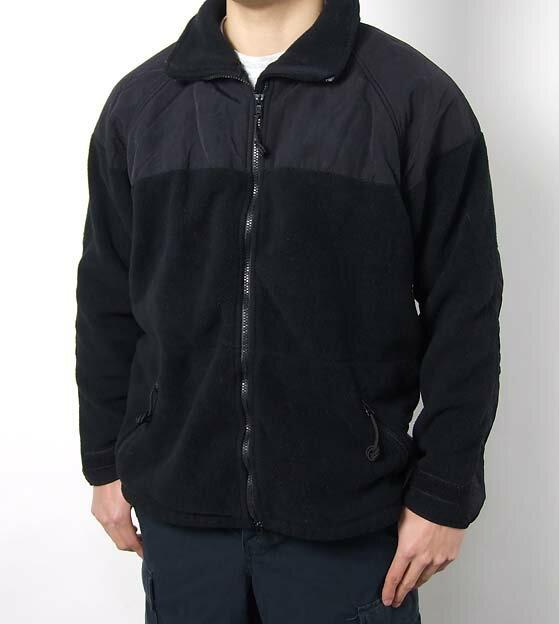 US.NAVY.ブラック、フリースジャケット(USED)ミリタリー