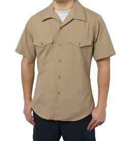 US.マリーン.メンズ、半袖ドレスシャツ(新品)MC−SS−N-