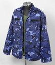EU.ブルーカモ、コンバットジャケット(USED)X223