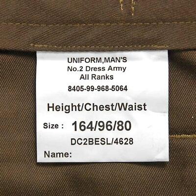 イギリス、アーミー、カーキ、バラック、ドレスパンツ(新品)206N=