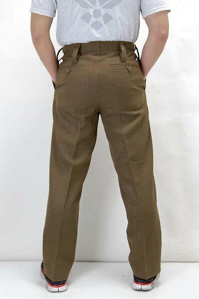 イギリス、アーミー、カーキ、バラック、ドレスパンツ(新品)206N