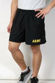 US.ARMY、ゴールドレター、ジョギングパンツ(USED)PT−SHORTS−GU-
