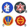 US.ミリタリー、カラー部隊章(新品)BRANCH−CN3