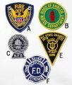 アメリカ、消防士ワッペン(新品)FD1