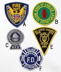 アメリカ、消防士ワッペン(新品、ファイアマン)1