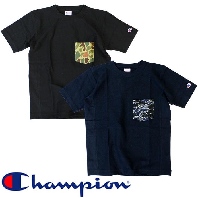 【新色】チャンピオン Champion リバースウィーブポケット付きTシャツ 新作 ネイビー│ブラック│Navy│Black 紺│黒 ポケT(c3-b369-370、c3-b369-104)